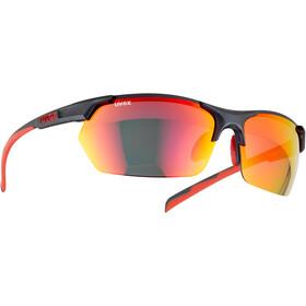 UVEX Sportstyle 114 Occhiali, grigio/rosso